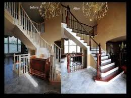 iron baluster upgrade remodel wood balusters replaced with