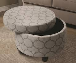 Fabric Storage Ottoman With Tray Round Fabric Storage Ottoman Storage Ideas