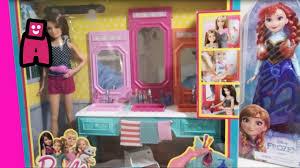barbie bathroom vanity set with featuring frozen elsa barbie and