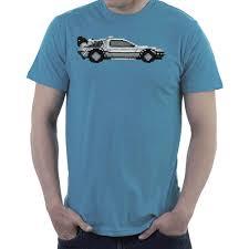 pixel car delorean pixel car back to the future men u0027s t shirt u2013 cloud city 7