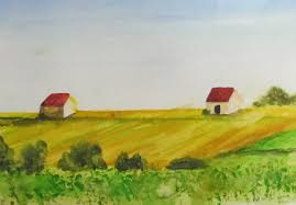 french countryside french countryside watercolor