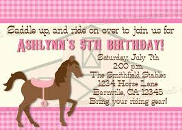 free printable horse birthday invitations printable birthday