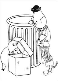 potato head slinky dog hamm toy story coloring pages boys