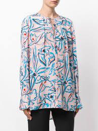 dvf blouse dvf diane furstenberg graphic printed blouse pink purple