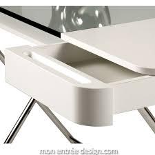 console bureau design bureau design laqué blanc et verre trempé cosimo d adentro achat