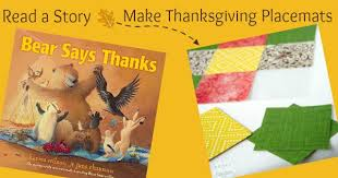 read a story make place mats for thanksgiving