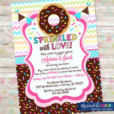 baby sprinkle baby sprinkle donut baby shower invitation with donuts and