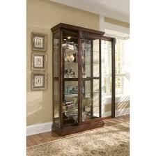 Cherry Wood Curio Cabinet Double Glass Door Curio Cabinet Choice Image Glass Door
