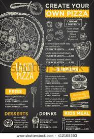 restaurant cafe menu template design food stock vector 288162671