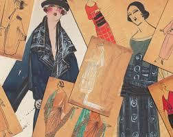 vintage fashion sketch etsy