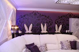 purple inspired rooms lavish home design purple and red living room ideas cream fabric curtain wooden frame