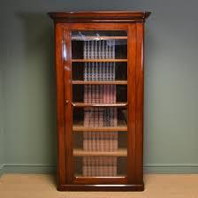 Mahogany Bookcase Unusual Superb Quality Tall Victorian Antique Mahogany Bookcase