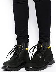womens caterpillar boots sale caterpillar colorado black ankle boots shoes black