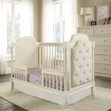 baby knightly corrine upholstered 2 in 1 convertible crib french