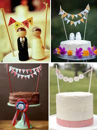 banner cake topper wedding cakes with bunting fringe flags green wedding shoes