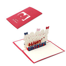 3d pop up greeting card handmade happy birthday merry christmas