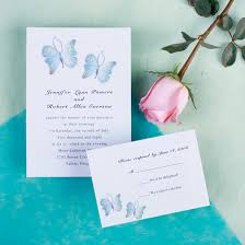 butterfly wedding invitations discount country white and blue butterfly wedding invitation