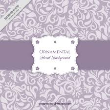 purple background with floral ornaments vector free