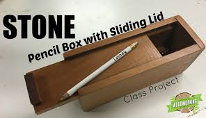 pencil box with sliding lid class project youtube