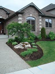 Simple Front Yard Landscaping Ideas Simple Planting With Moss Rock Boulders Pool Outdoor Living