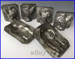 3 antique eppelsheimer ny tin chocolate molds thanksgiving tom