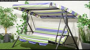 Garden Treasures Hammock Replacement by 3 Seater Swing Hammock Replacement Cushions Youtube