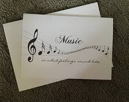 musical cards musical notes card etsy