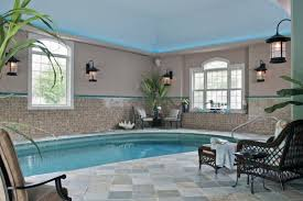 House Plans With Swimming Pools Fine Cool House Indoor Pools Green Glass Material Cover White