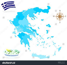 Map Of Greece by Map Greece Regions Departments Stock Vector 127631579 Shutterstock
