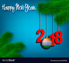 The Indian Flag Happy New Year 2018 And Ball With The India Flag Vector Image