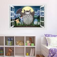 compare prices on totoro bedroom online shopping buy low price kawaii totoro wall sticker for baby bedroom removable cute nursery wall decal home decor wall poster