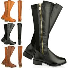 womens knee high boots flat leather boots for national sheriffs association