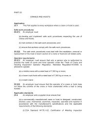 part 23 cranes and hoists application 23 1