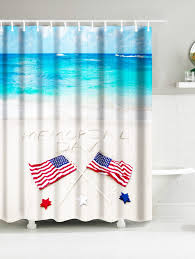 Snowman Shower Curtain Target by Sea Beach American Flag Memorial Day Water Resistant Shower