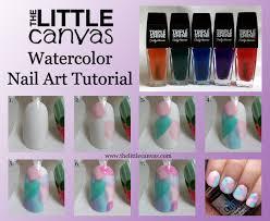 sally hansen palm beach jelly watercolor tutorial the little canvas
