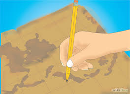 how to draw an old explorer map