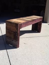 diy reclaimed pallet bench pallet furniture plans