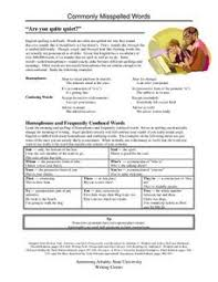 commonly misspelled words lesson plans u0026 worksheets