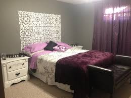 Bedroom Ideas With Purple Black And White Bedroom Extraordinary Gray And Purple Bedrooms Brings Splendid