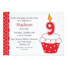 9th birthday invitations u0026 announcements zazzle co uk