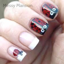 10 best ladybug nail art images on pinterest ladybug nail art