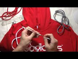 how to restring your hoodie the fastest hoodlaces youtube