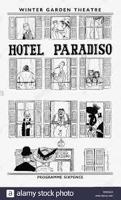 hotel paradiso u0027 programme cover 1956 winter garden theatre