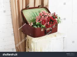 shabby chic wedding wedding floral decor stock photo 414866122