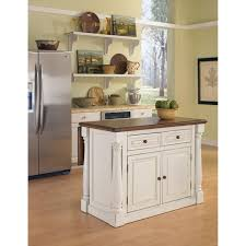 Stationary Kitchen Island by Monarch Antique White Sanded Distressed Kitchen Island Home Styles