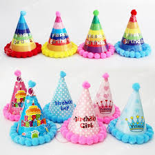 birthday hats korean multicolor birthday cap with pompon event party