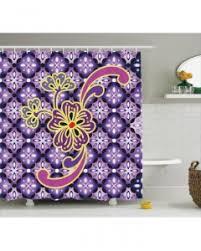 flower shower curtain purple ombre lotus art print for bathroom