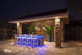 multi color led landscape lighting outdoor kitchen grill lighting ideas