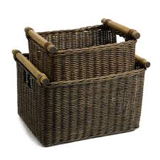 deep wicker dvd or paper basket the basket lady