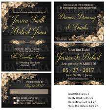 country chic wedding invitation set country themed wedding